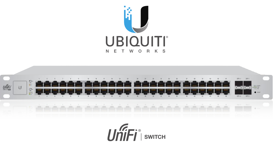 SWITCH 48-PORTY UBIQUITI UNIFI UBNT-US-48-500W