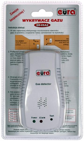 CZUJNIK GAZU EURA GD-05A2 ZASILANIE ~230V/50Hz