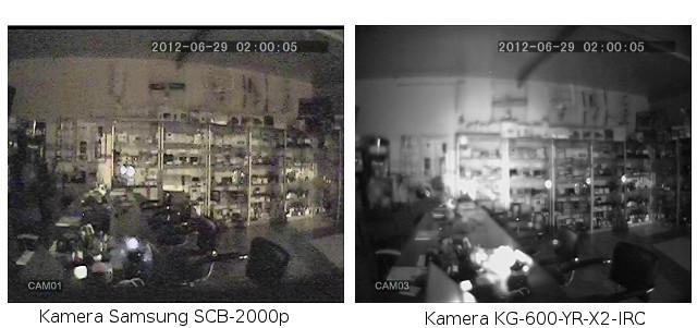 PORÓWNANIE JAKOŚCI OBRAZU KAMERY KG-600-YR-X2-IRC DO JAKOŚCI OBRAZU KAMERY SAMSUNG SCB-2000P