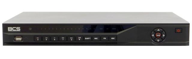 PROFESJONALNY REJESTRATOR SIECIOWY BCS-NVR16025M 16 KANAŁÓW IP PENTAPLEX, KOMPRESJA H.264, MPEG-4