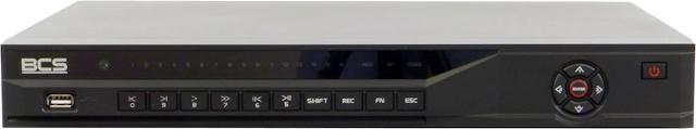 PROFESJONALNY REJESTRATOR SIECIOWY BCS-NVR1602 16 KANAŁÓW IP PENTAPLEX, KOMPRESJA H.264, MPEG-4