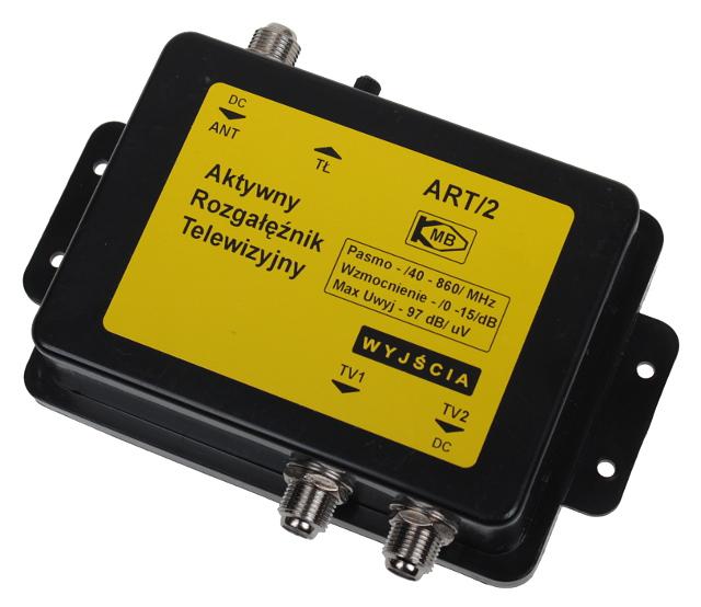 AKTYWNY ROZGAŁĘŹNIK TV DVB-T ART/2 1-WEJŚCIE, 2-WYJŚCIA