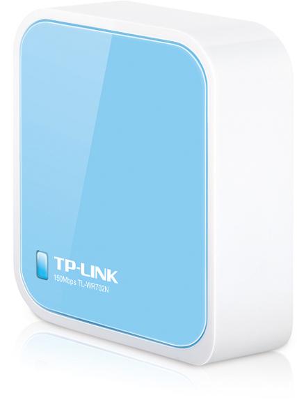 PRZENOŚNY BEZPRZEWODOWY ROUTER TP-LINK TL-WR702N ROUTER, AP, REPEATER, MOST, KLIENT STANDARD 802.11n, g,b