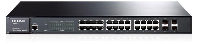 SWITCH ZARZĄDZALNY L2 TP-LINK TL-SG3424 24 PORTÓW GB, 4 PORTY COMBO SFP