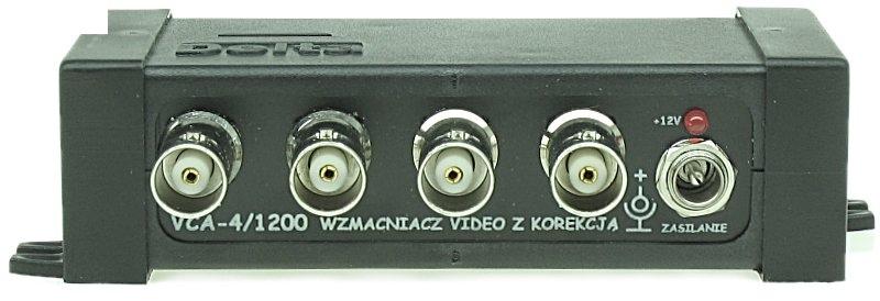 WZMACNIACZ VIDEO Z KOREKCJĄ  VCA-4/1200