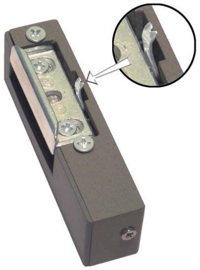ZACZEP ELEKTROMAGNETYCZNY ELEKTRA R3 LEWY Z BLOKADĄ KOMPAKTOWY: 22x28x90mm, REGULOWANA ZAPADKA
