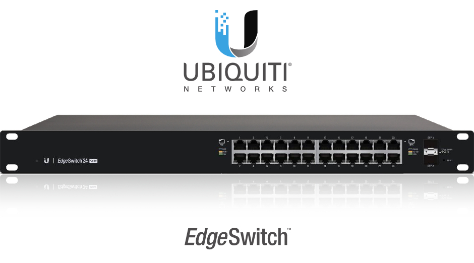 SWITCH 24-PORTY UBIQUITI EDGE SWITCH UBNT-ES-24-500W