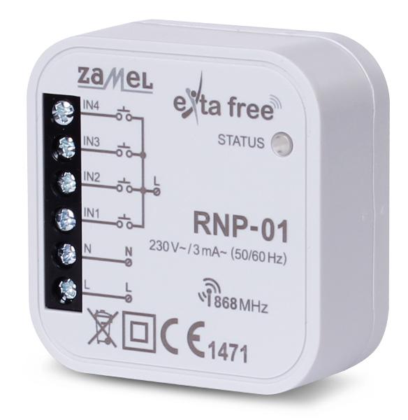 Radiowy nadajnik dopuszkowy EXTA FREE RNP-01