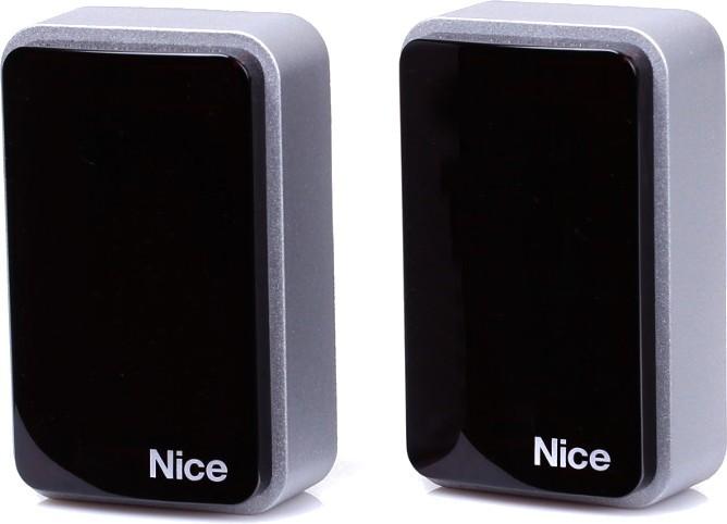 Fotokomórki EPMB i lampa LED Nice ELDC 12-36V z wbudowaną anteną