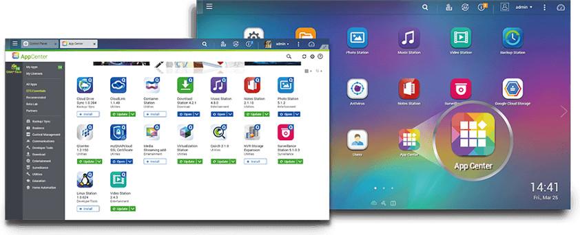 Zwiększanie możliwości serwera NAS dzięki aplikacjom instalowanym na żądanie