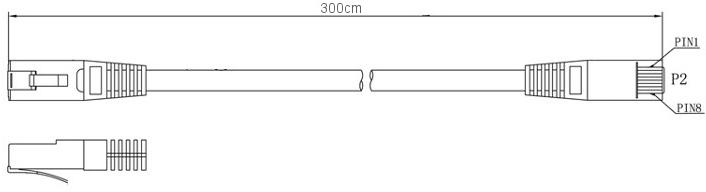 VATS patchcord-getfort-kat-5e-ftp-3m-szary