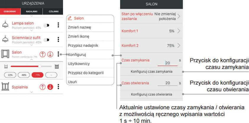 Przykładowy widok aplikacji
