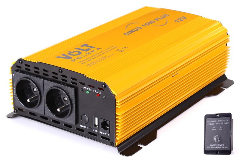 PRZETWORNICA SINUS PLUS 1500 12V / 230V 1000/1500W