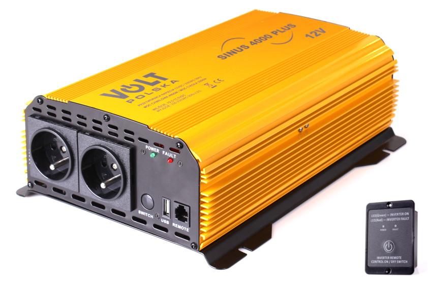PRZETWORNICA SINUS PLUS 4000 12V / 230V 2000/4000W