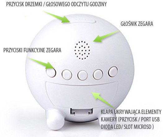 mini kamera budzik zegar ip wifi hd android 13763
