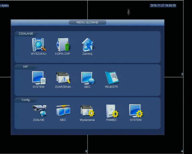 Przykładowe zrzuty interfejsu urządzenia