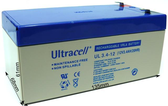 AKUMULATOR ŻELOWY ULTRACELL LIMITED UK 12V 3.4Ah / 3400mAh
