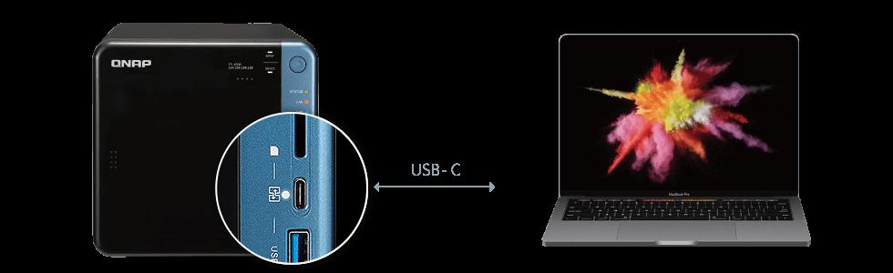 Bezpośredni dostęp do plików poprzez port USB-C QuickAccess