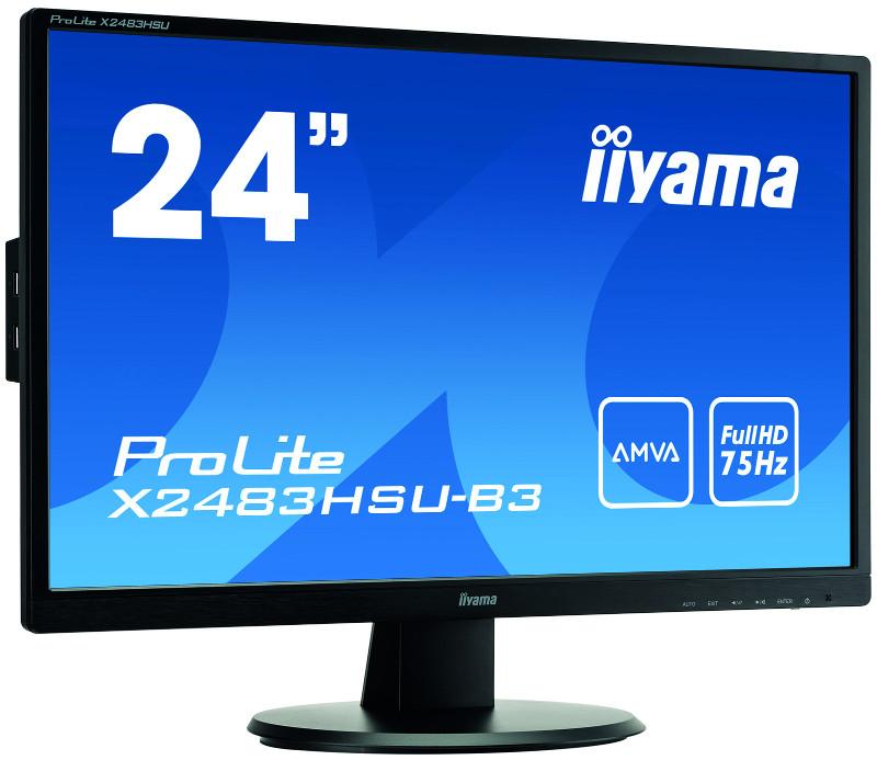 Monitor LED IIYAMA  X2483HSU-B3 AMVA HDMI USB DisplayPort