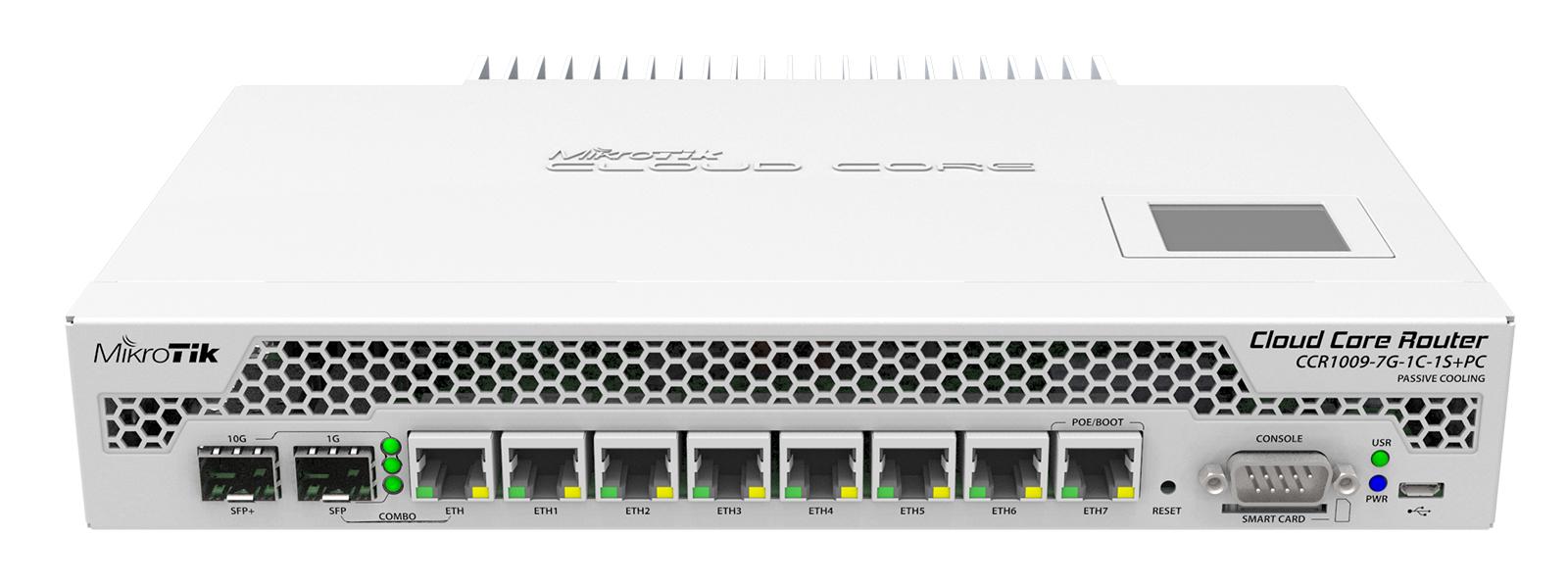 MIKROTIK ROUTERBOARD RTB-CCR1009-7G-1C-1S+PC