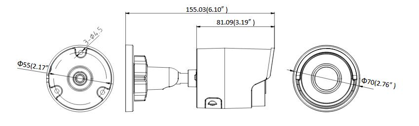 KAMERA IP HIKVISION DS-2CD2043G0-I 2.8mm CZARNA