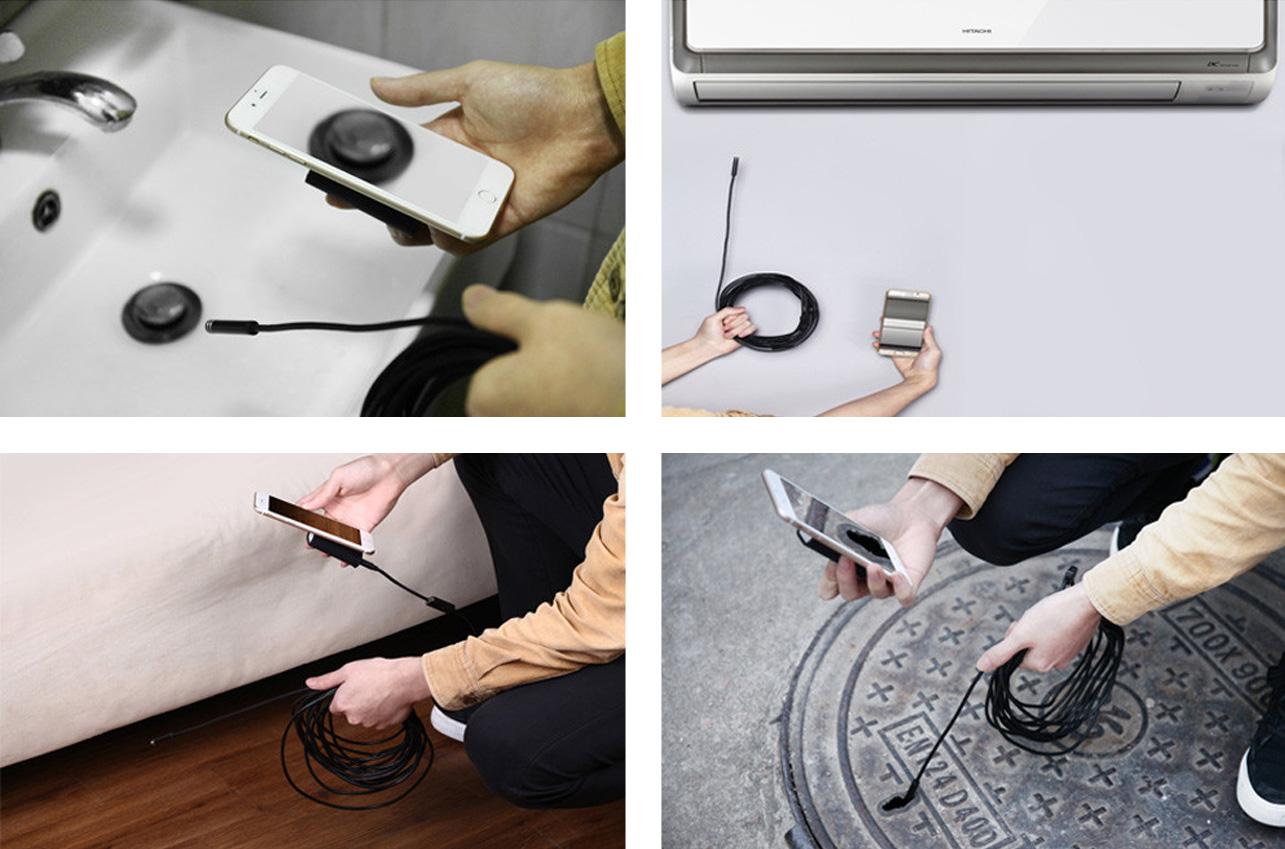 Kamera może być uzywana w każdym miejscu - obsługiwana jest przez wszystkie telefony / tablety oraz komputery z systemem Windows