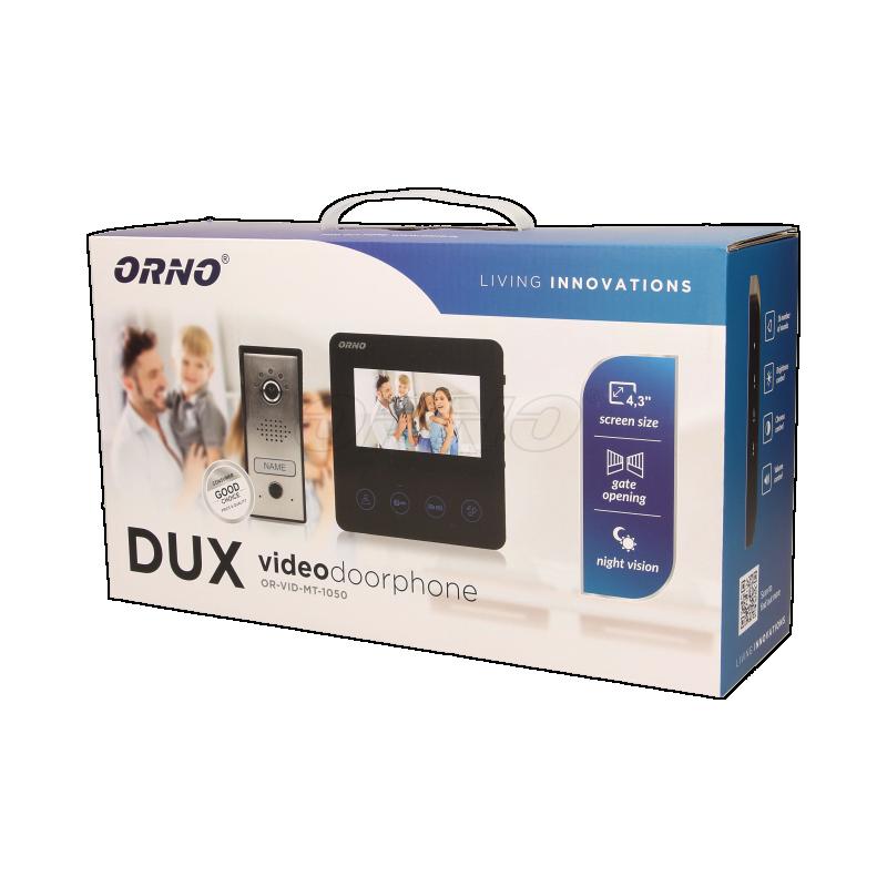 Zestaw wideodomofonowy DUX składa się z: