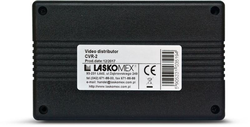 Laskomex CV-R2 CVR-2 Moduł rozdzielacza wideo do monitorów (obsługujący do 4 monitorów)