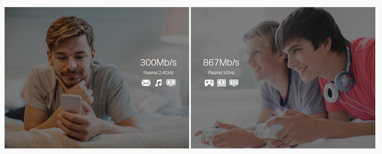 Niezwykle szybkie prędkości dzięki Wifi 11AC nowej generacji