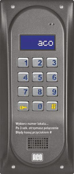 ACO CDNP6ACC BR CENTRALA DOMOFONOWA grzałka LCD. RFID MASTER; 22068