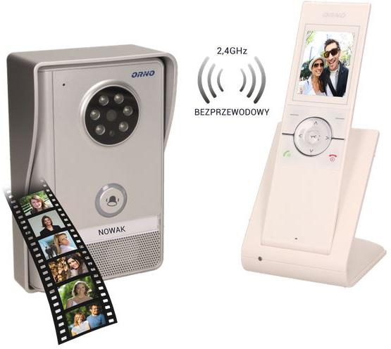 Bezprzewodowy wideodomofon ORNO OR-VID-XE-1051/W