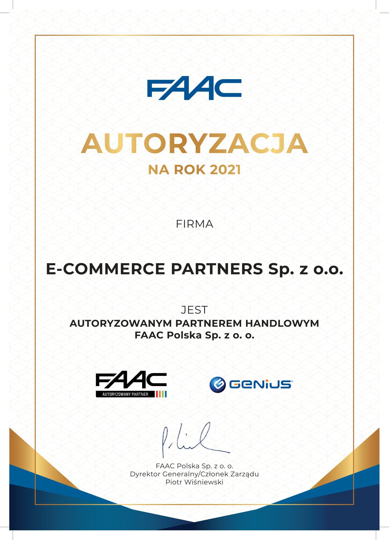 Kupuj u autoryzowanego partnera marki FAAC
