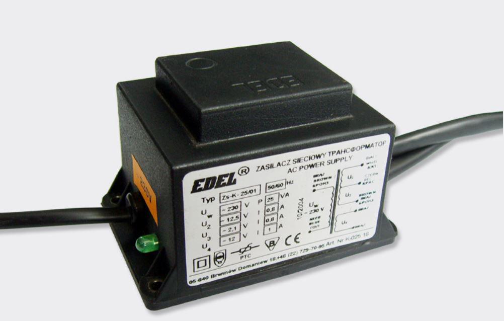 Laskomex TR/B 2303 Zasilacz z bezpiecznikiem termicznym (25VA, 12/14 V) ZS-K-25/03