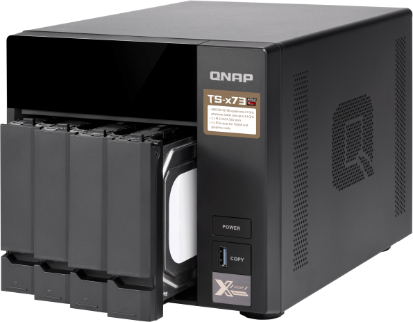 Większe możliwości serwera NAS dzięki dwóm gniazdom PCIe