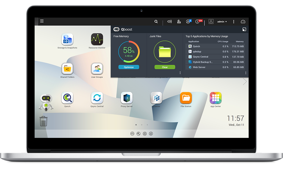QTS — inteligentny, intuicyjny i kreatywny system operacyjny serwerów NAS