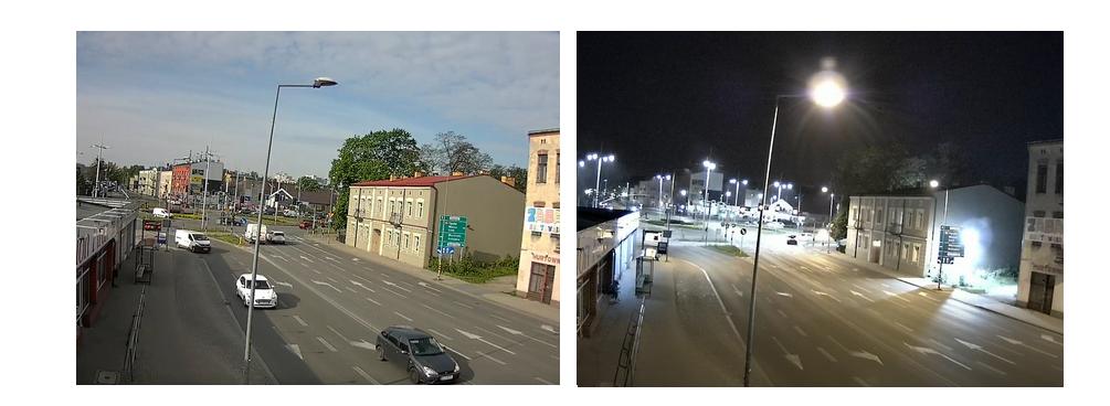 Rzeczywisty obraz  z kamery - dzień i noc