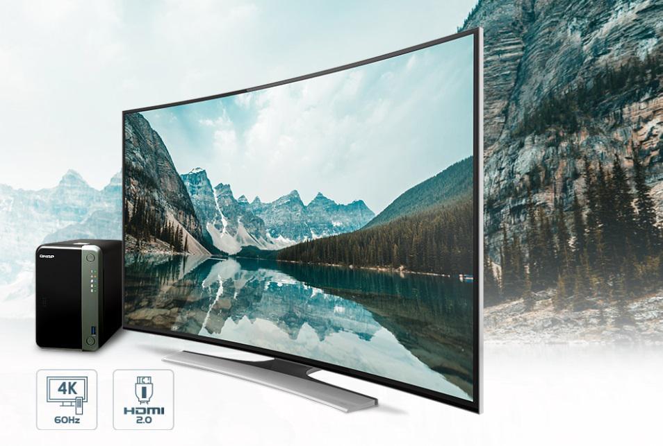 Doskonałe wrażenia wizualne dzięki wyświetlaczowi 4K HDMI i transkodowaniu wideo w czasie rzeczywistym