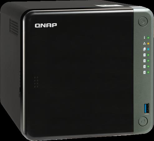 Czterordzeniowy serwer 2,5 GbE NAS dla zawodowców, z obsługą kart rozszerzeń PCIe dla 10 Gb/s lub dysków M.2 SSD w celu przyspieszenia działania