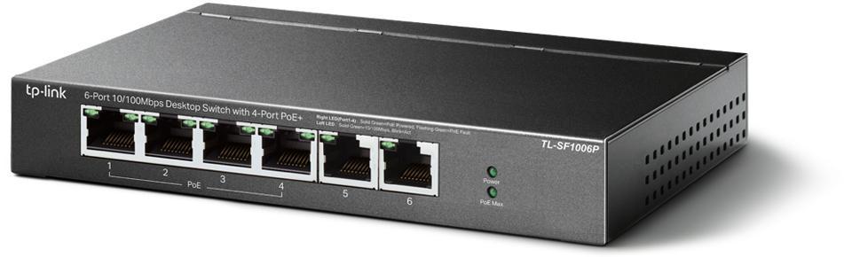 Przełącznik stworzony do wielu zastosowań 4 porty PoE o łącznej mocy 67 W