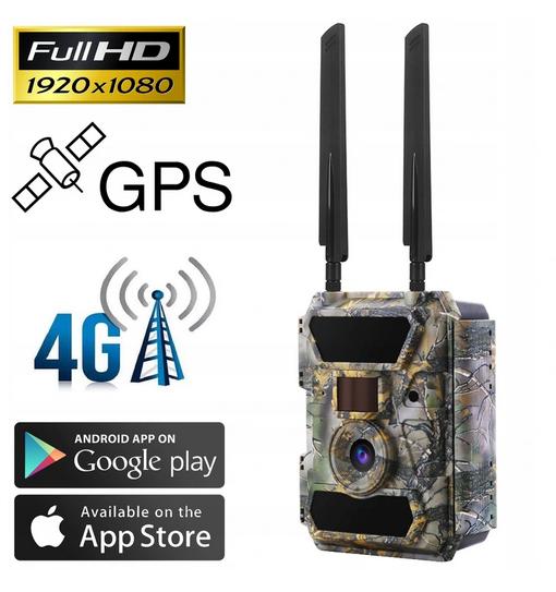 SZEROKOKĄTNA FOTOPUŁAPKA 4.0CG GPS 4G LTE W SKRÓCIE
