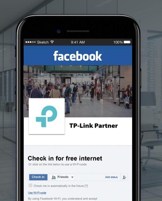Ochrona sieci dla gości poprzez Facebook Wi-Fi lub logowanie uwierzytelnione SMS-em