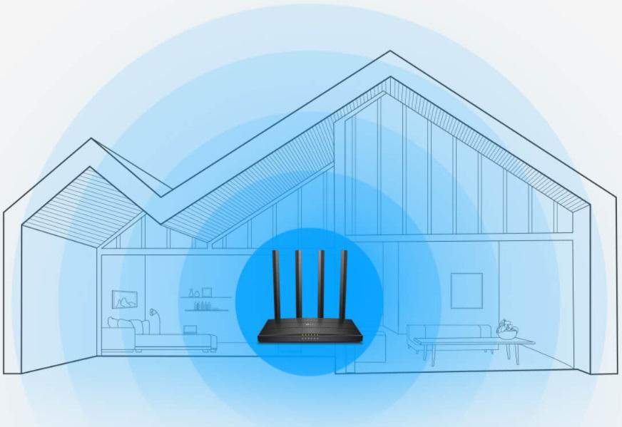 Zasięg sieci Wi-Fi w całym domu