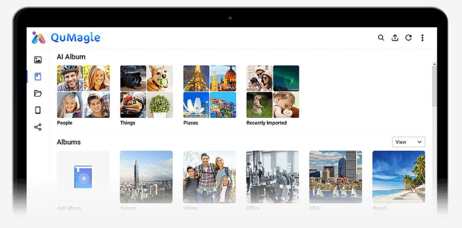 Łatwe zarządzanie zdjęciami dzięki aplikacji QuMagie z automatyczną kategoryzacją zdjęć w oparciu o sztuczna inteligencję