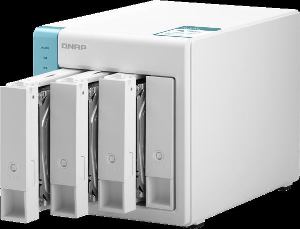 Wysokowydajny, czterordzeniowy serwer NAS, zapewniający niezawodną pamięć masową w chmurze na potrzeby domowe i osobiste