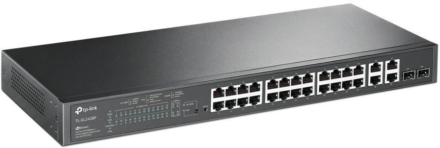 Przełącznik stworzony do wielu zastosowań — 24 porty PoE+ o łącznej mocy 250 W
