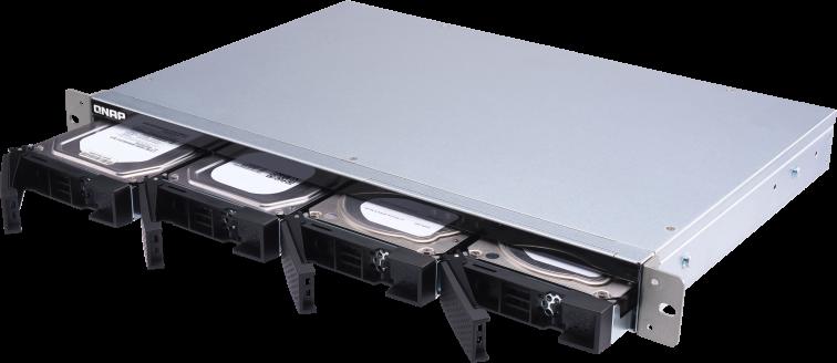 Pojemna obudowa SATA 6 GB/s JBOD montowana na płytkim stelażu