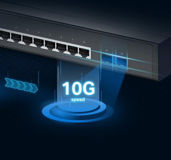 Przełącznik biznesowy z portami uplink 10 G