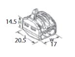ZŁĄCZKA DO PRZEWODÓW ZATRZASKOWA 0,2-4,0mm2 PC233 3GNIAZDA 1szt.