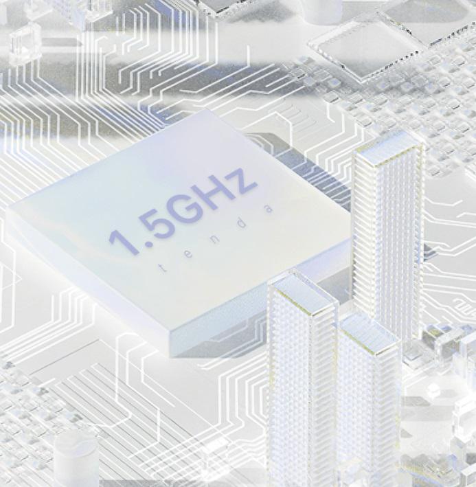 Czterordzeniowy procesor 1,5 Ghz zapewnia szybsze i bardziej stabilne WiFi