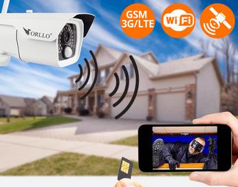 Solarna Kamera Zewnętrzna  GSM na kartę SIM 4G LTE oraz WiFi